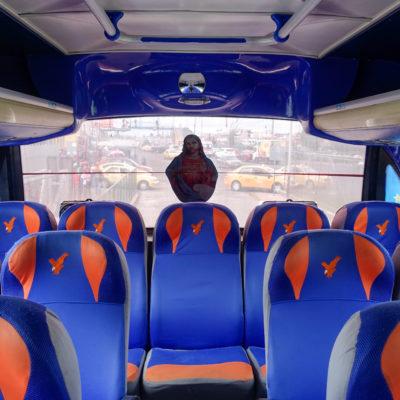 Les stickers dans les bus, toujours !